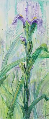 Poster featuring the painting Iris Number Two by Cathy Long