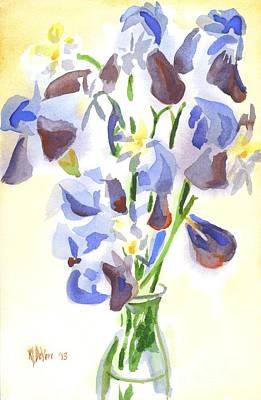 Irises Aglow Poster