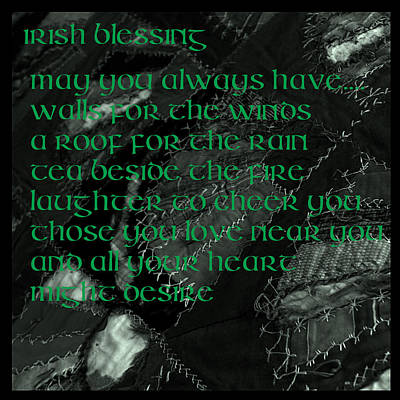Irish Blessing Stitched In Time Poster