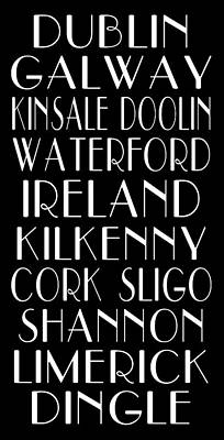Irish Cities Subway Art Poster by Jaime Friedman