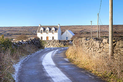 Irish Cottage On Isle Of Inis Mor Poster by Mark E Tisdale