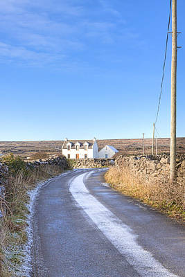 Irish Cottage On The Aran Islands Poster by Mark E Tisdale