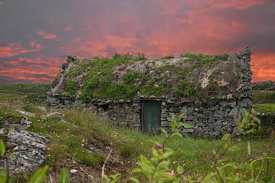 Irish Cottage Poster by Rob Hemphill