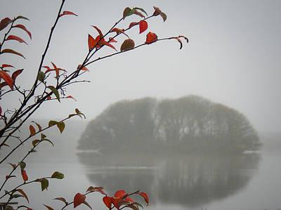Irish Crannog In The Mist Poster