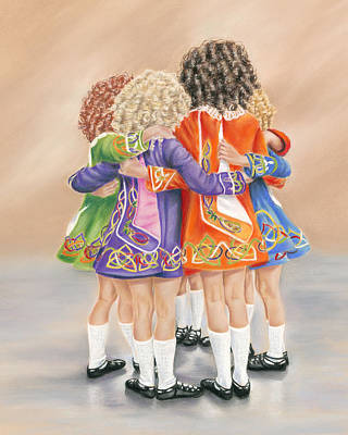 Irish Dancers Poster