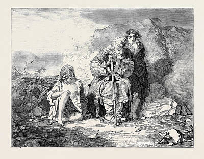 Irish Mendicants Poster by Fripp, Alfred Downing (1822-95), English