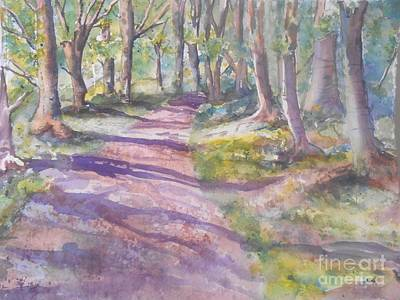 Irish Woods Poster by Patricia Pushaw