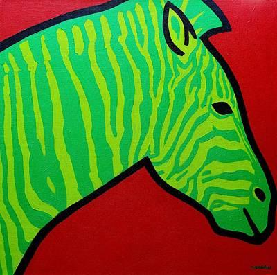 Irish Zebra Poster