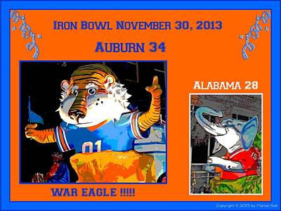 Iron Bowl 2013 Poster by Marian Bell
