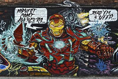 Iron Man Graffiti Poster by Frozen in Time Fine Art Photography