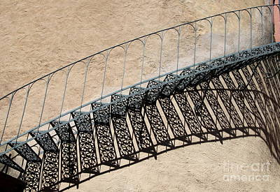 Iron Stairs Shadow Poster by Christiane Schulze Art And Photography