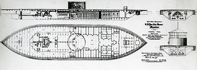 Ironclad Warship Uss Monitor Poster