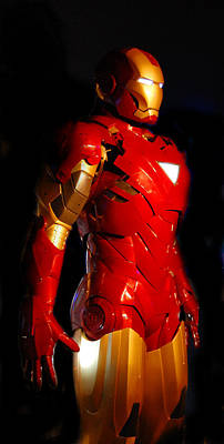 Ironman On Black Background Poster by Gina Dsgn