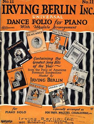 Irving Berlin Dance Folio For Piano Poster by Mel Thompson