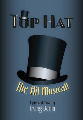 Irving Berlin Top Hat Musical Poster Poster by Hakon Soreide