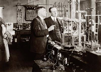 Irving Langmuir And Guglielmo Marconi Poster by Library Of Congress