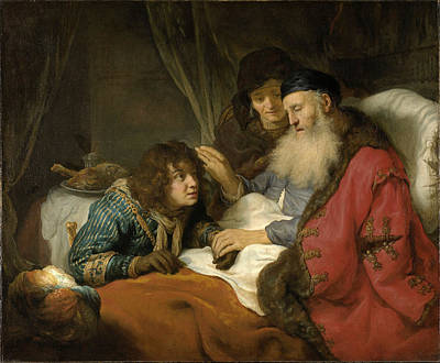 Isaac Blessing Jacob Poster by Govert Flinck