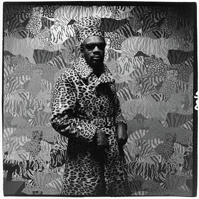 Isaac Hayes Wearing Leopard Print Poster by Peter Hujar