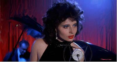 Isabella Rossellini In The Film Blue Velvet Poster