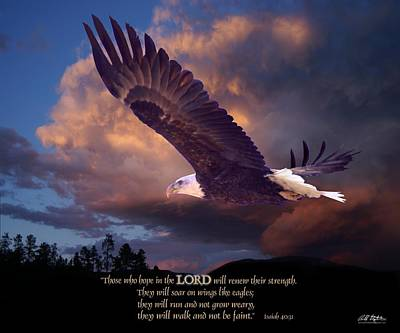 Isaiah 40 31 Poster by Bill Stephens