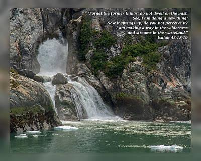 Isaiah 43 18-19 Poster