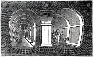 Isambard Brunel's Tunnel Under The Thames Poster