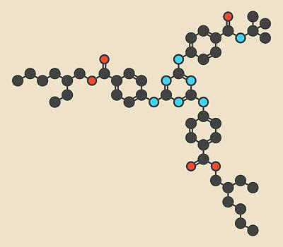 Iscotrizinol Sunscreen Molecule Poster by Molekuul