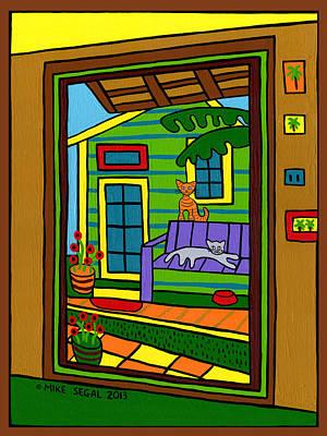Island Arts Garden - Cedar Key Poster