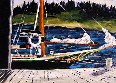 Poster featuring the painting Island Berth by John Williams
