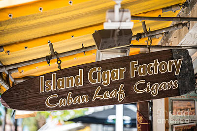 Island Cigar Factory Key West  Poster by Ian Monk