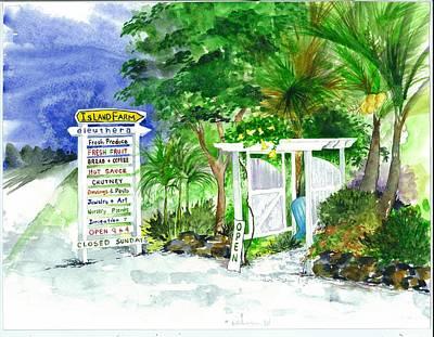 Island Farm Eleuthera Bahamas Poster