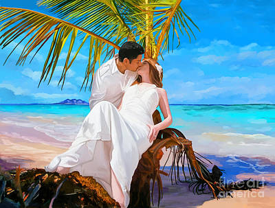 Poster featuring the painting Island Honeymoon by Tim Gilliland