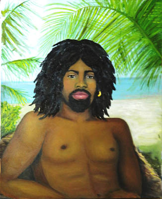 Poster featuring the painting Island Man by Sandra Nardone