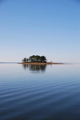 Island On Lake Sam Rayburn Poster by Max Mullins