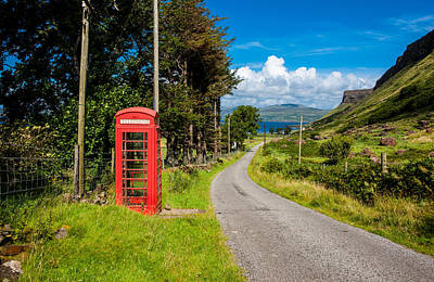 Traditonal British Telephone Box On The Isle Of Mull Poster