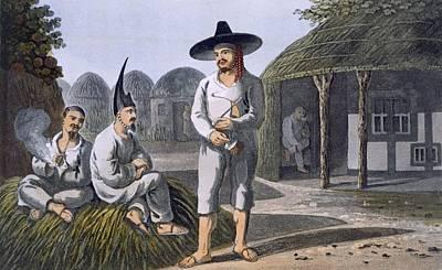 Islanders Of Sir James Halls Group, 1820 Poster