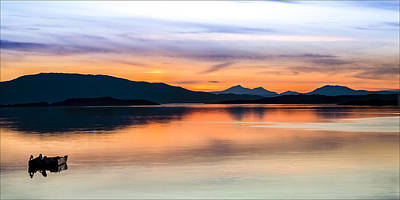 Sunset Isle Of Jura Scotland Poster