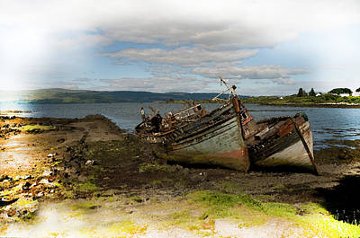 Isle Of Mull Boats Poster