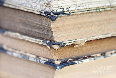 Isolated Old Books Poster