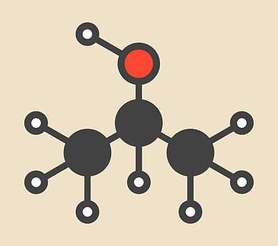 Isopropanol Molecule Poster by Molekuul
