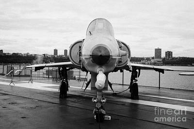 Israel Aircraft Industries Kfir On Disply On The Flight Deck At The Intrepid Sea Air Space Museum  Poster by Joe Fox