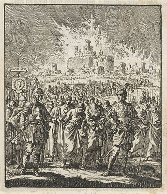 Israelites Leave Jerusalem, Which Is Burning Poster