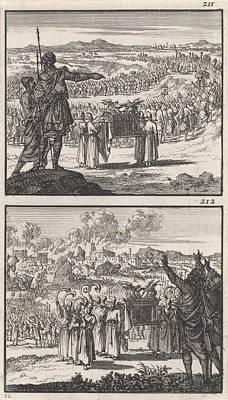 Israelites Over Jordan Fall Of Jericho Biblical Poster