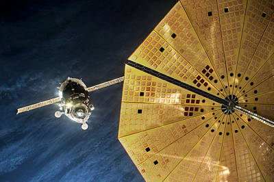 Iss Expedition 46 Approaching Iss Poster by Nasa