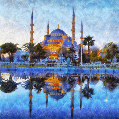 Istanbul Blue Mosque  Poster