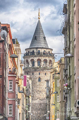 Istanbul Galata Tower Poster by Antony McAulay