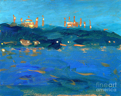 Istanbul Mosques At Dusk Poster by Valerie Freeman