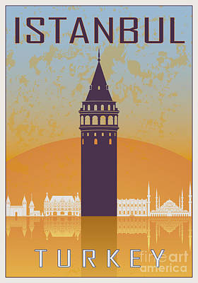 Istanbul Vintage Poster Poster