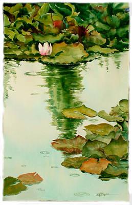 It Also Rains In Monet's Garden Poster