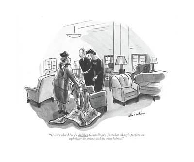 It Isn't That Macy's Dislikes Gimbel's Poster by Helen E. Hokinson